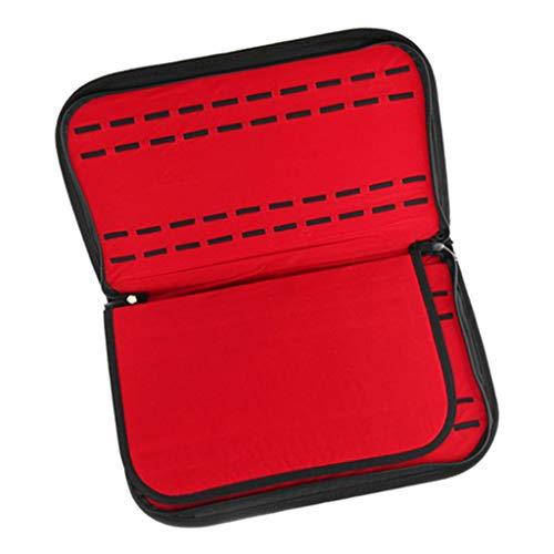 perfeclan Caja De Almacenamiento De Reloj De 20 Compartimentos Caja De Exhibición De Terciopelo Sostenedor del Organizador De Joyas