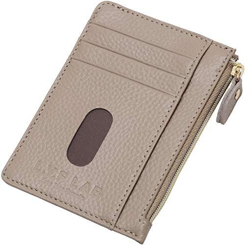 L.Y.F LAB パスケース フラグメントケース 定期入れ カードケース 本革 コインケース 薄型 レディース メンズ (キーチェーン付き)… (グレージュ)