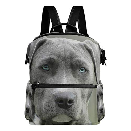 FANTAZIO Mochila para niñas negro y blanco abrigo corto perro Daypack