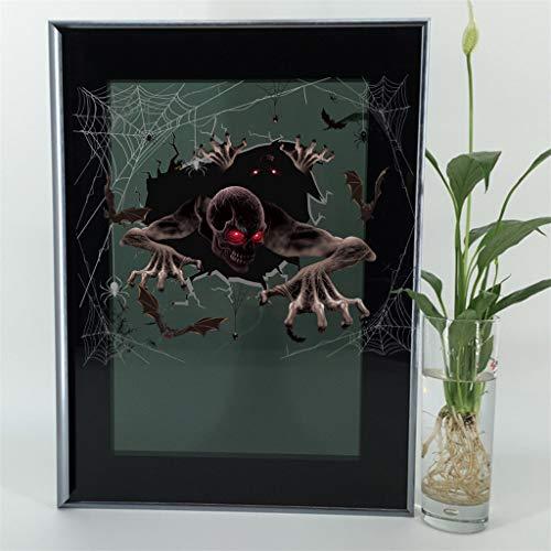Hunpta @ Halloween Deko Wandaufkleber Horror 3D Fenster Selbstklebende Wandtattoos Wohnzimmer Schlafzimmer Wand Fenster Party Dekoration