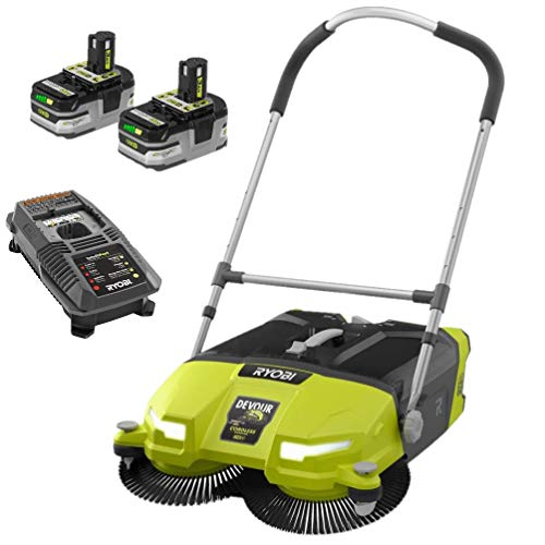 RYOBI 18-Volt Cordless 4.5 Gal. DEVOUR Debris Sweeper Kit with 2 Batteries and 18-Volt Charger (Bulk Packaged, Non-Retail Packaging)