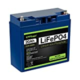 ExpertPower 12V 20Ah Lithium LiFePO4 Deep Cycle Rechargeable Battery | 2500-7000 Life Cycles &...