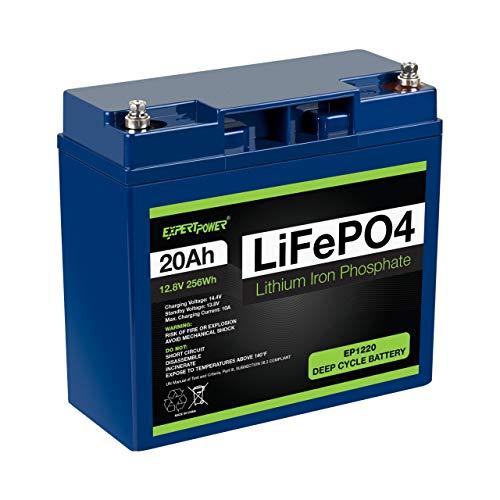 ExpertPower 12V 20Ah Lithium LiFePO4 Battery