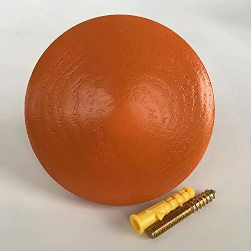TTYAC Kleiderhaken aus Holz, 14 Farben, Wanddekoration, Wandhaken, Kreative Wandhaken, Holz, Handarbeit, Schlüsselaufbewahrung, Orange, 11 cm