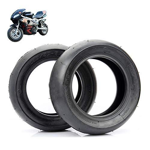 Neumáticos para Scooter Eléctrico 90/65-6.5/110 / 50-6.5 Neumáticos Sin Cámara Lisos Adecuados para Neumáticos Delanteros Y Traseros De Mini Motocicleta/Coche Deportivo Pequeño 49Cc, Fácil De