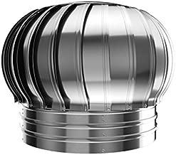 Rotary Turbine Ventilator, Stainless Steel Chimney Spinner Cowl Spinner Anti Downdraught (Size : 200mm)