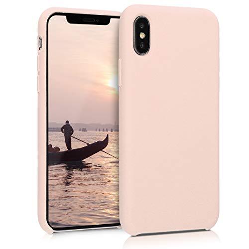 kwmobile Coque pour Apple iPhone X - Coque Housse - Housse de téléphone Rose Ancien