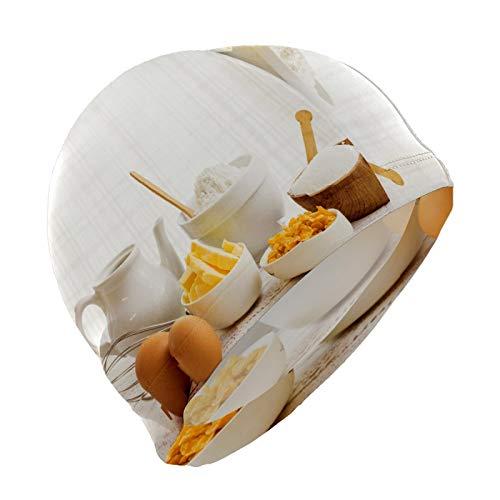 Youran Gorro de natación de lycra de alta elasticidad, para pelo corto, para preparación de repostería, gorras de baño para mujer, hombres, adolescentes, no impermeables, talla única