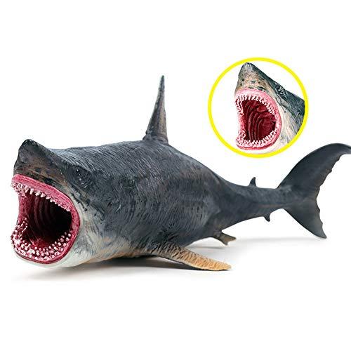 Surakey Shark Modell Spielzeug,Simulation Miniatur Tierspielzeug,Lebensechtes Hai-Spielzeug, Realistische Hai-Figur, Auf Sea Creature Toy Dekoratives für Kinder Geburtstag Weihnachten