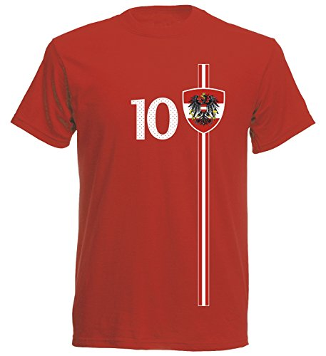 Österreich Kinder T-Shirt Trikot St-1 EM 2016 - rot Austria Kids (140)