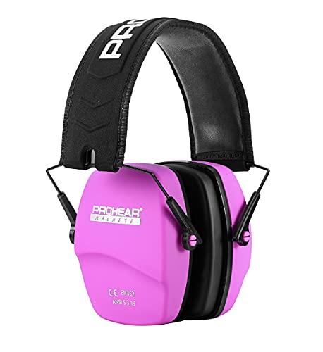 PROHEAR 016 Schiessen Gehörschutz Lärmschutz Kopfhörer für Schießsport,Ohrenshcutz für Kinder Erwachsene SNR31dB (Rosa, Pure Farbe)