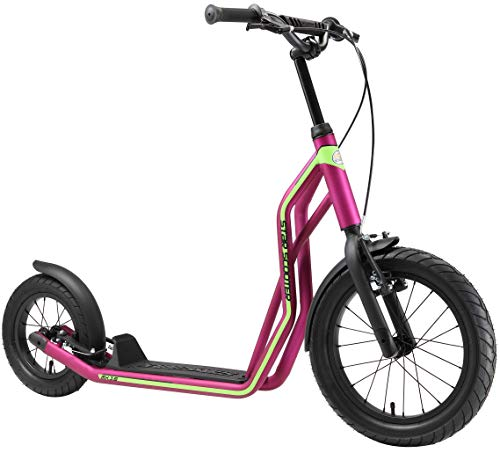 STAR SCOOTER Kinder Tret Roller ab 7-8 Jahre | 16/12 Zoll Mixed City Kick Scooter Luftreifen | Berry