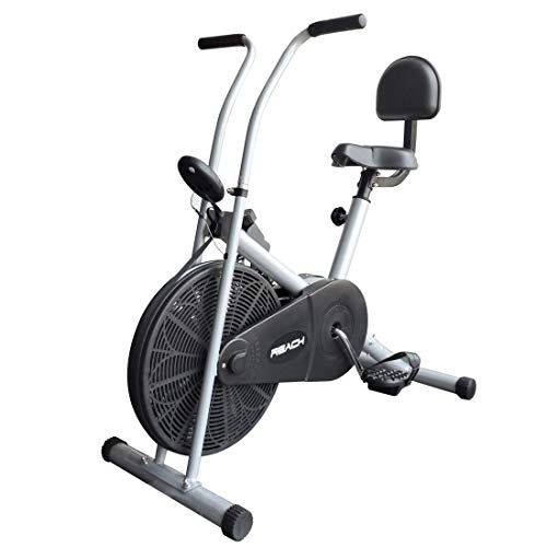 Reach Ab-90 Air Bike Exercise Fitness Cycle With Stationary Handles & Back Support (Multi-color)