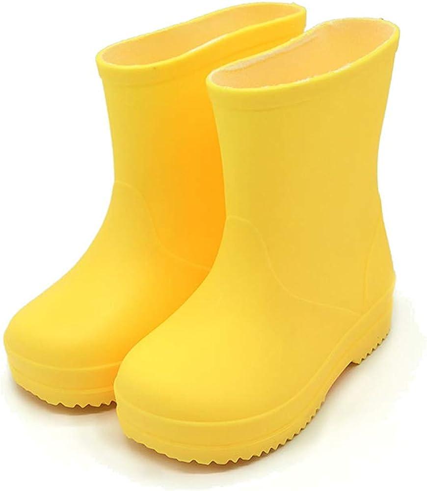 Kids Girls Rain Boots Rainbow Rainboots Waterproof For Little Toddler Boys