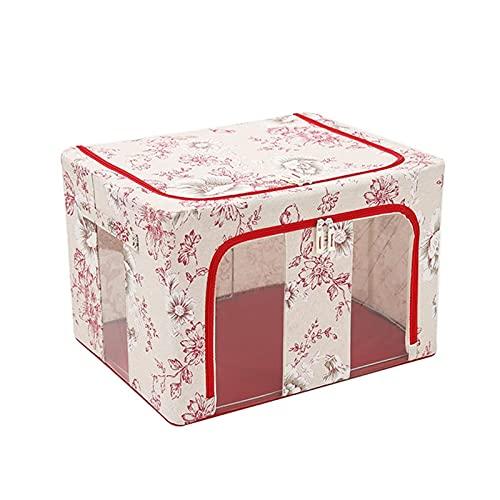 qwertyuiop Gran bolsa de almacenamiento plegable para ropa, organizador y almacenamiento para armarios de 66 litros, 2 lados para abrir marcos