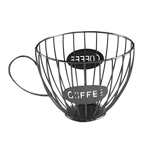 Jiannan K Cup Holder Kcup Kpod Storage Organizer for Counter Coffee Bar Mug Shape Coffee Pod Holder (A)