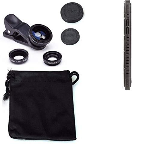 K-S-Trade Für Cyrus CS 35 3in1 Clip-On Kamera Adapter Für Cyrus CS 35 Macro Weitwinkel FishEye Fischauge Objektiv Linse Smartphone Objektivset