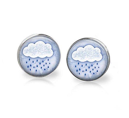 Pendientes de nube de lluvia con gotas de lluvia para el día de la lluvia