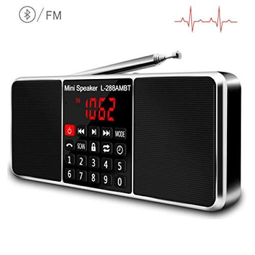 Radio Radio portátilAm FMAltavoz BluetoothReproductor deMP3estéreoTarjetaTF/SDPantallaLED USBAltavozNegro
