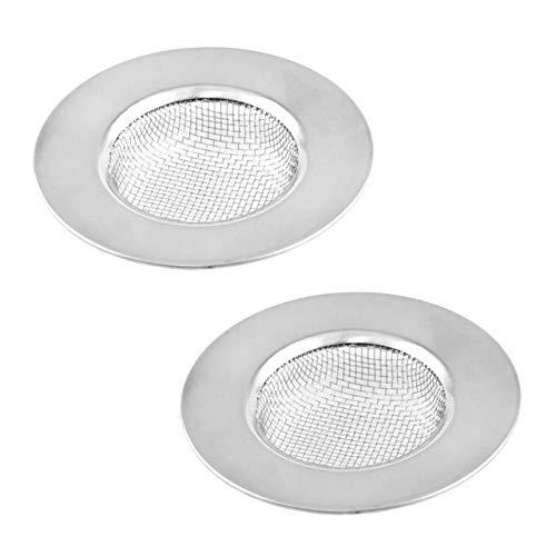 Lantelme 2 Stück Edelstahl Abflußsieb Set Sieb Feinmaschig Ideal für Bad Badewanne Dusche Küche Spülbecken 5187