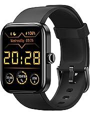 CUBOT Smartwatch Tracker Fitness Orologio Uomo Donna con Saturimetro (SpO2) Alexa Integrata, Cardiofrequenzimetro da Polso, 1.7 Pollici Touch Screen, Impermeabile 5ATM, per Android iOS Nero