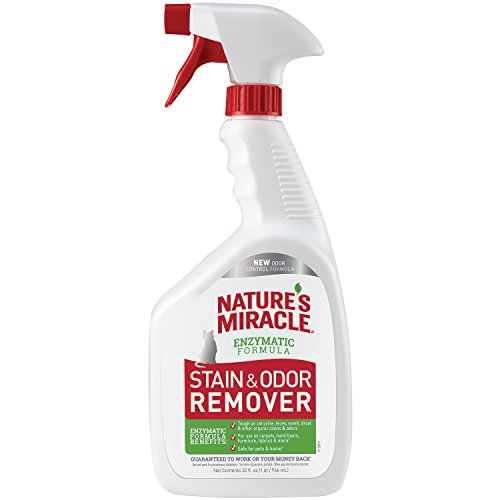 Nature Miracle Cat Stain and Odor Remover With New Odor Control Formula 32 Ounce Spray