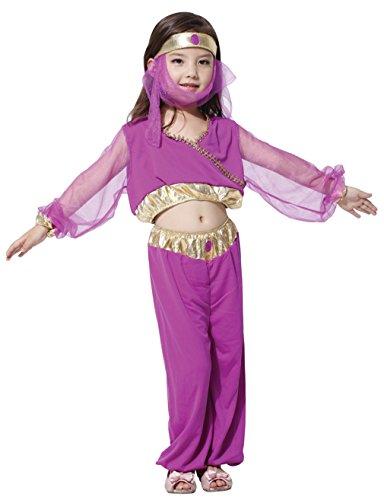 EOZY Costume De Sari Inde Fille Costume De Déguisement Enfant Halloween Cosplay Carnaval Haut:110-120CM