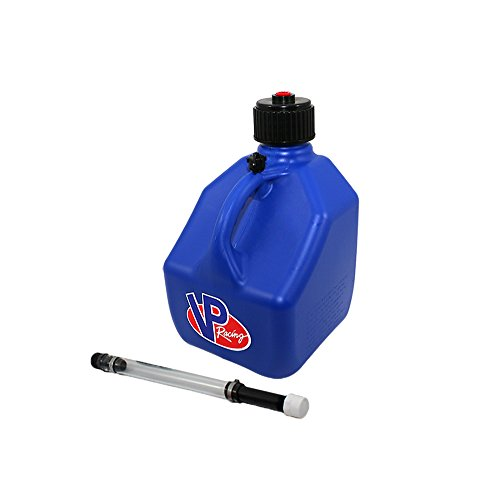 VP Racing Fuels 3 Gallon Square Blue Racing Utility Container with Deluxe Filler Hose