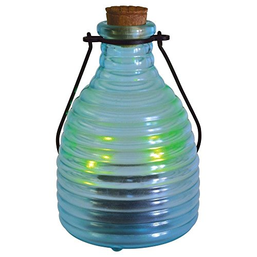 Malibu Solar LED Garden Lantern Jar. Wireless Outdoor Light That Lasts For Hours With Sunlight Sensor To Automatically Turn On At Night. Perfect For Yard, Patio, Pathway, Lawn, Or Any Landscape.