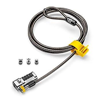Kensington Câble de Sécurité à Clé NanoSaver pour Ordinateur, 2,3 Mètres, Technologie Antivol Hidden Pin -Technologie de Verrouillage Cleat pour une Protection Fiable, Convient aux Ordinateurs HP
