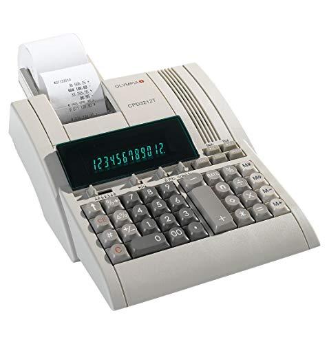 Olympia Tischrechner CPD-3212 S, ergonomische Tastatur mit griffsicheren Tasten, großes Display, 12-stellige Anzeige