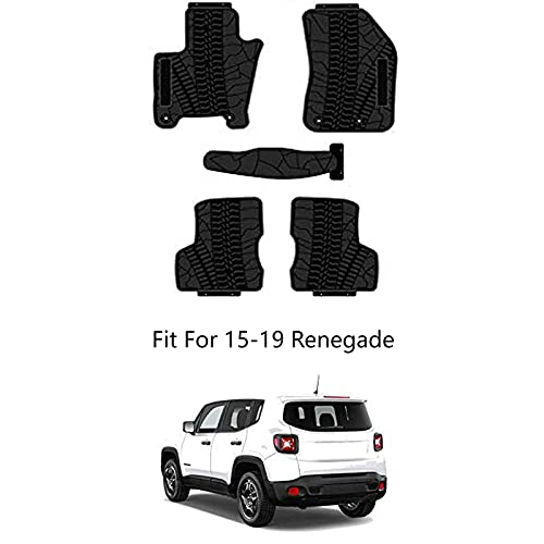 Kaungka Heavy Rubber Car Front Floor Mats Compatible with 2015-2019 Renegade...