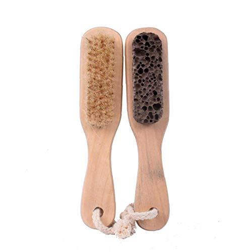 1 paquet Pied Pierre ponce Brosse Bristle Exfoliant Scrubber 7 « » Long Morte peau Massage SPA Callus Remover avec poignée en bois pour hommes et femmes