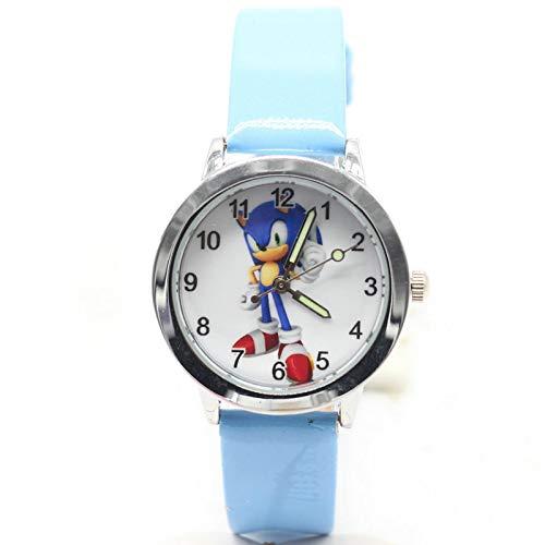 MIAOGOU Sonic 2020 New 1pcs Kinder Lederuhren Kinder Cartoon Sonic Uhr Uhr Jungen Stunden Mädchen