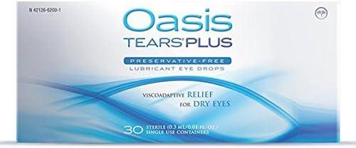 通販 65 Vials Oasis ご注文で当日配送 TEARS PLUS Eye Preservative-Free Drops Lubricant