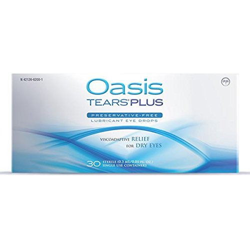 65 Vials Oasis TEARS PLUS Preservative-Free Lubricant Eye Drops (2 boxes, 30 vials each and one 5 vial packet)