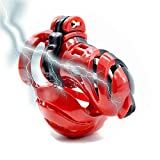 """Electric Shock Chạṡtịty Device'Locked' Cuckold Chastity BDSM Hotwife Cuckquean Fetish Tank Top 8"""" Length, Chạṡtịty Cage Men, Exclusive to The Queen CB003. (Color : Red, Size : Ring Diameter:40mm)"""