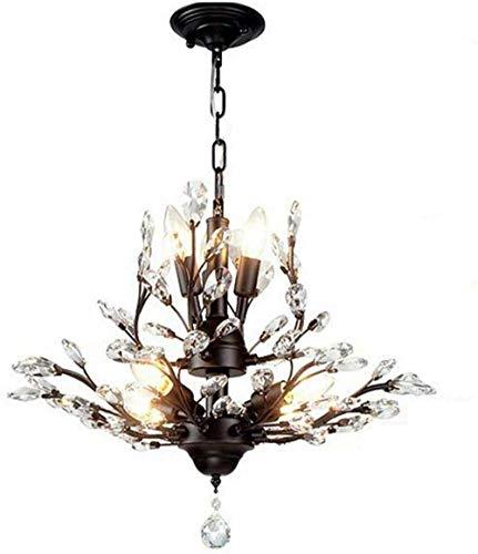 Hanglamp armaturen Europese retro kroonluchter sfeer smeedijzer kristal boom tak slaapkamer kroonluchter modern restaurant studielamp Franse tuin kroonluchter
