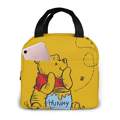 Lunch Bag Tote Winnie The Pooh Lunchbox Insulated Lunch Cooler Box Meal Prep Containers For Woman Man Kids