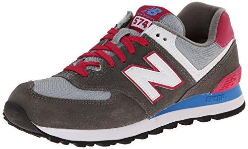 New Balance WL574 B- Zapatillas deportiva de piel mujer, color gris grey...