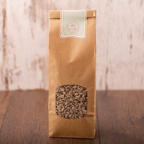 süssundclever.de® Bio Sonnenblumenkerne | 1 kg | Premium Qualität | geschält und unbehandelt | ohne Salz | plastikfrei und ökologisch-nachhaltig abgepackt