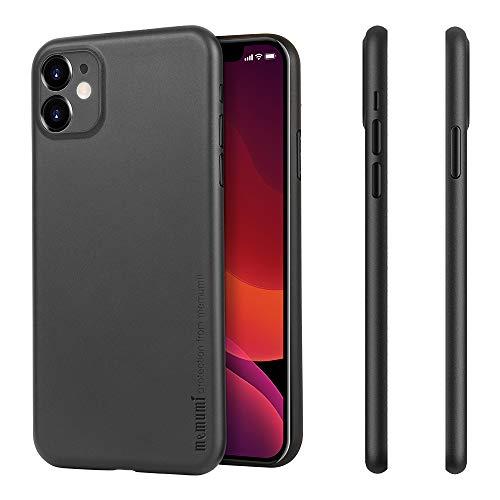 memumi para iPhone 11 Funda Ultra Thin Protectora Trasera con Matte Finish Coating Carcasa Funda para iPhone 11 Case Anti-arañazos y Sin Huella Digital (Negro Mate Translúcido)