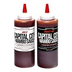 A convenient variety pack of our two best-selling sauces: Mild Mambo sauce and Sweet Hot Mambo sauce Capital City mambo sauce creates a sweet and tangy addition to any dish. Our delicious sauce is versatile and can be used as a marinade, glaze, dippi...