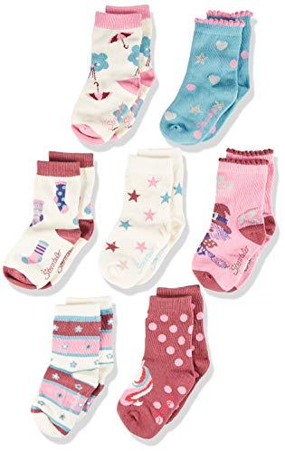 Sterntaler Baby Girls 8421853-Söckchen 7er-Box Mädchen Socken, Beige (Ecru 903), 17-18