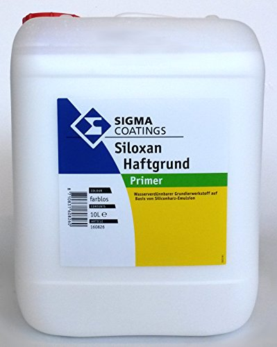 SIGMA Siloxan Haftgrund, 10L - Wasserverdünnbarer, verfestigender Grundierwerkstoff auf Basis Silikonharz-Emulsion für außen.