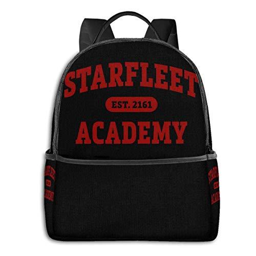 IUBBKI Mochila lateral negra Mochilas informales Backpacks Starfleet 2161 Academy Casual Backpacks, Student School Bags