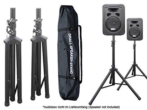 DRALL INSTRUMENTS 2 Stück Boxenständer Stativ Ständer mit 1 x Tasche für Audio Speaker Lautsprecher Modell: BS3x2_BS3TKx1