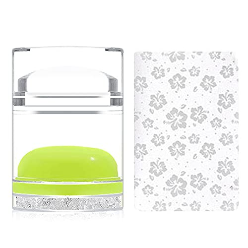 Huaxingda ClearStamper Double Head Clear Stamper Nail Art Stamper Mini Double Face Clear Stamper & Grattoir pour Nail Art Design