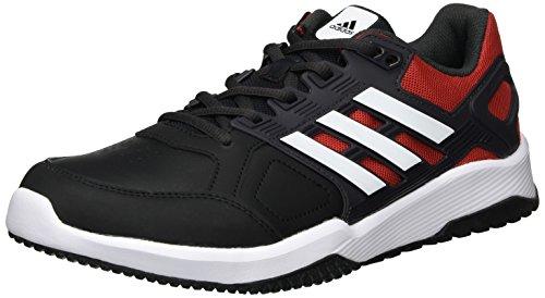 Adidas Duramo 8 Trainer M, Zapatillas Hombre, Negro (Negbas/ftwbla/escarl), 40 2/3 EU