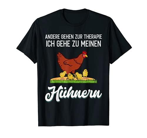 Hühner - Therapie lustiger Spruch T-Shirt
